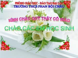 Bài giảng Sinh học Lớp 6 - Tiết 36: Thụ phấn - Trường THCS Phan Bội Châu
