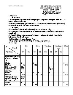 4 Đề kiểm tra học kì II môn Lịch sử Lớp 6 - Năm học 2018-2019 - Trường THCS Việt Hưng (Có đáp án)