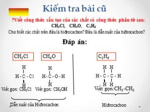 Bài giảng Hóa học 9 - Bài 36: Metan