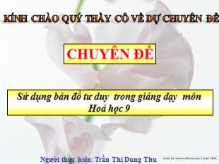 Bài giảng Hóa học Lớp 9 - Bài 52: Tinh bột và xenlulôzơ - Trần Thị Dung Thu