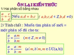 Bài giảng Toán 7 - Bài 1: Tập hợp Q các số hữu tỉ
