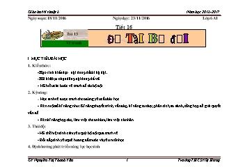 Giáo án Mĩ thuật Lớp 6 - Bài 13: Vẽ tranh Đề tài Bộ đội - Nguyễn Thị Thanh Vân