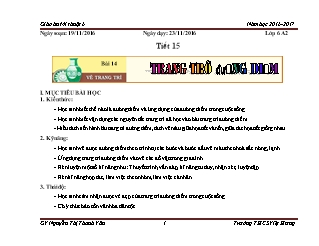 Giáo án Mĩ thuật Lớp 6 - Tiết 15: Vẽ trang trí đường diềm - Năm học 2016-2017 - Nguyễn Thị Thanh Vân